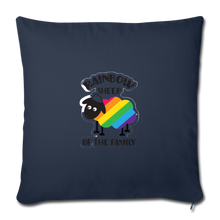 "Load image into Gallery viewer, ""RAINBOW SHEEP?!"" PILLOW COVER - navy"
