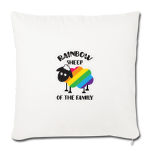 "Load image into Gallery viewer, ""RAINBOW SHEEP?!"" PILLOW COVER - natural white"