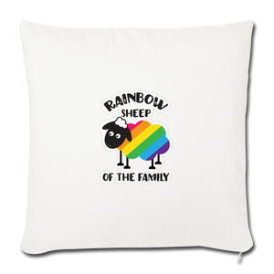 """RAINBOW SHEEP?!"" PILLOW COVER - natural white"