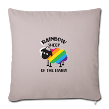"Load image into Gallery viewer, ""RAINBOW SHEEP?!"" PILLOW COVER - light taupe"
