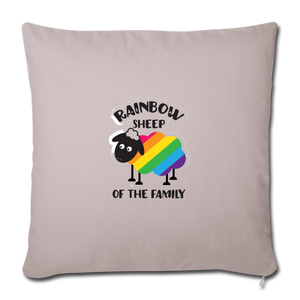 """RAINBOW SHEEP?!"" PILLOW COVER - light taupe"