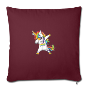 """SLAY"" PILLOW COVER - burgundy"