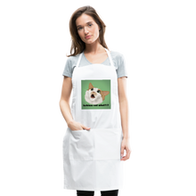 "Load image into Gallery viewer, ""LESBIANS EAT WHAT?!"" APRON - white"