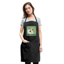 "Load image into Gallery viewer, ""LESBIANS EAT WHAT?!"" APRON - black"