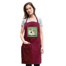 "Load image into Gallery viewer, ""LESBIANS EAT WHAT?!"" APRON - burgundy"
