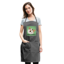 "Load image into Gallery viewer, ""LESBIANS EAT WHAT?!"" APRON - charcoal"
