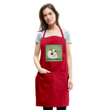 "Load image into Gallery viewer, ""LESBIANS EAT WHAT?!"" APRON - red"