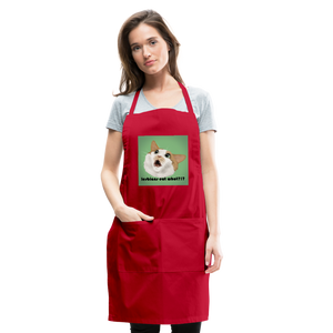 """LESBIANS EAT WHAT?!"" APRON - red"