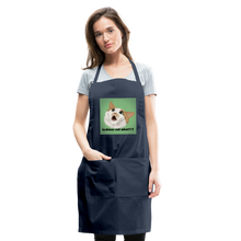 "Load image into Gallery viewer, ""LESBIANS EAT WHAT?!"" APRON - navy"