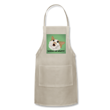 "Load image into Gallery viewer, ""LESBIANS EAT WHAT?!"" APRON - natural"