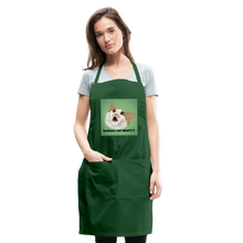 "Load image into Gallery viewer, ""LESBIANS EAT WHAT?!"" APRON - forest green"