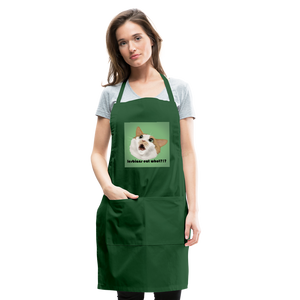 """LESBIANS EAT WHAT?!"" APRON - forest green"