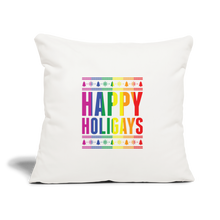 "Load image into Gallery viewer, ""HAPPY HOLIGAYS"" PILLOW COVER - natural white"
