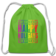 "Load image into Gallery viewer, ""HAPPY HOLIGAYS"" DRAWSTRING BAG - clover"