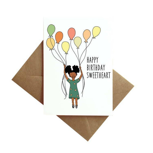 Balloon Girl Card