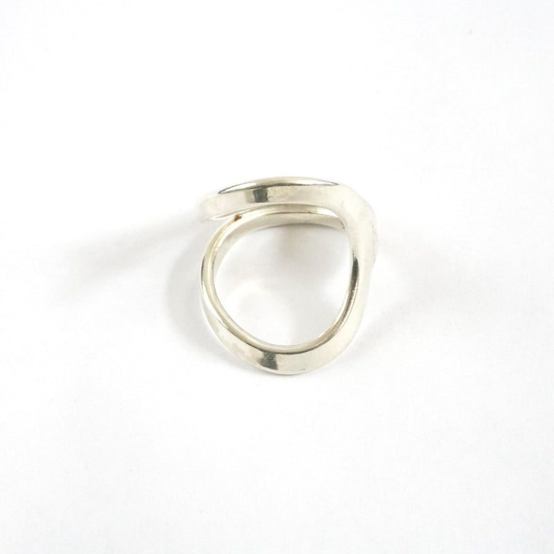 Asymmetrical Open Swoop Ring