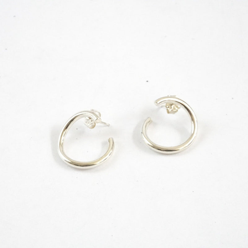 Turn Silver Earrings