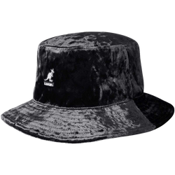 Black Crushed Velvet Rap Hat