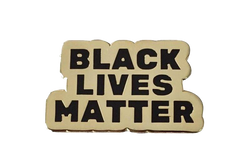 Black Lives Matter GOLD Pin