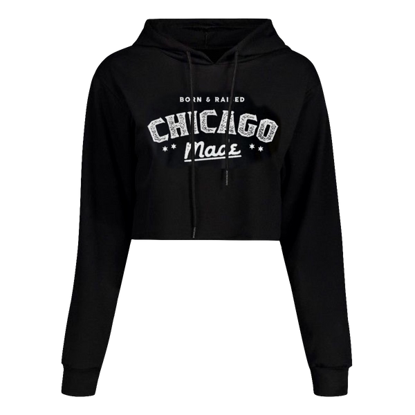 Born & Raised Crop Top Hoodie