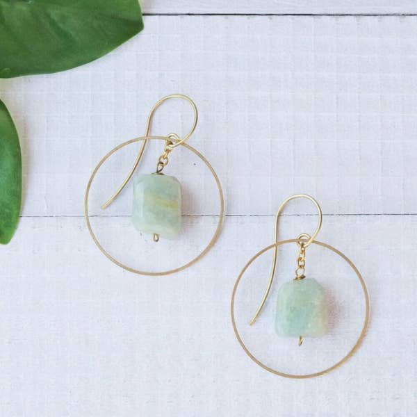 Baizaar BSE042-Amazonite Earrings