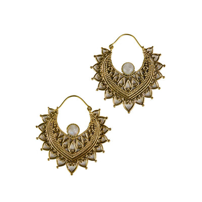 Sunburst Stone Earrings