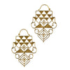 Long Tri Hex Baizaar Earrings