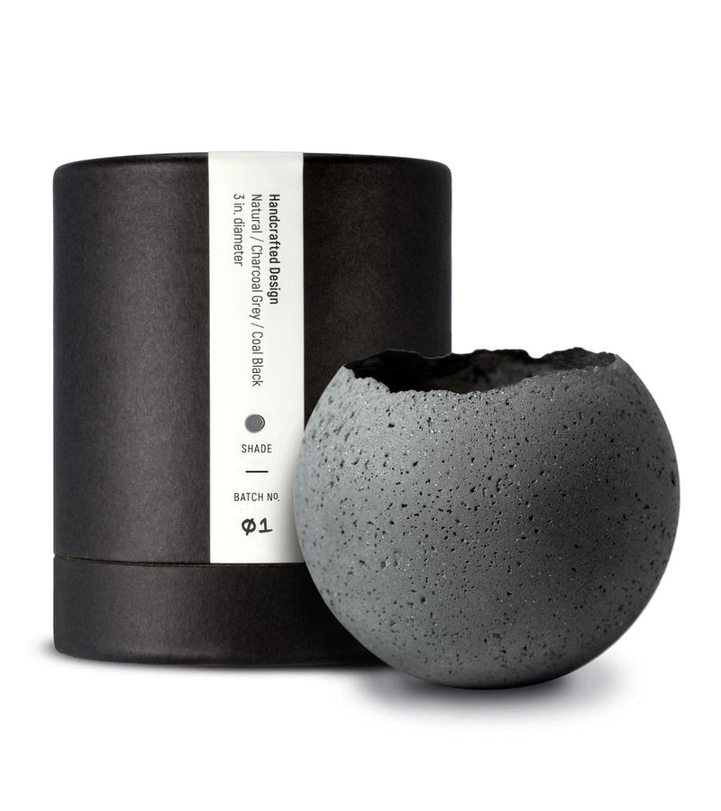 L - Orbis Concrete Vessel - Charcoal