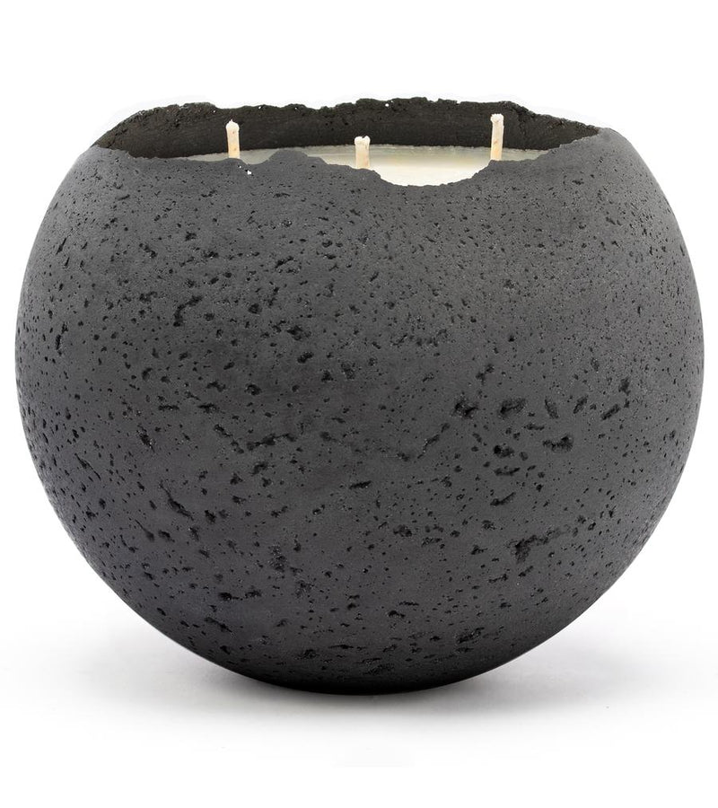 XL Orbis 3-Wick Concrete Candle - Charcoal