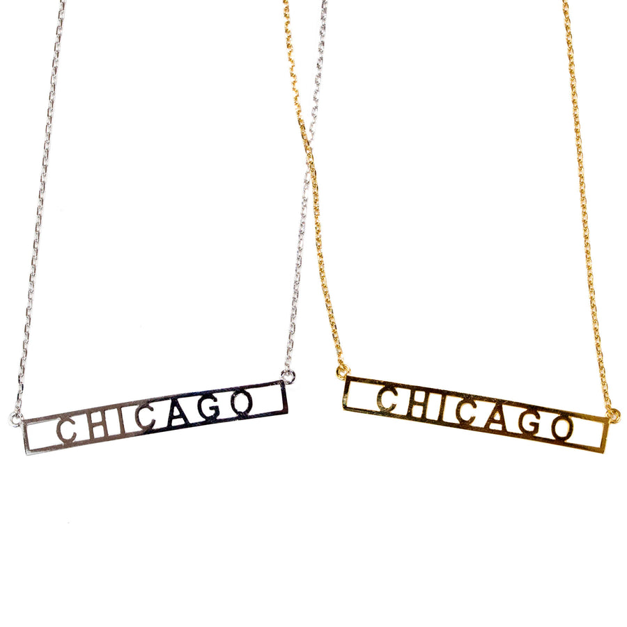 Chicago Necklace - Block Letters