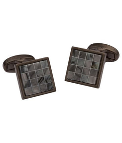 Tile Black Cufflinks