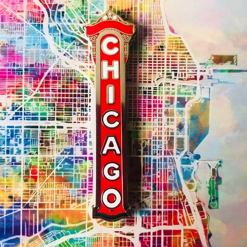Chicago - Enamel Pin by Reformed School