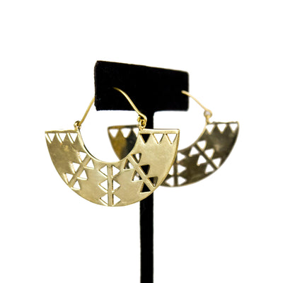 Cutout Fan Baizaar Earrings