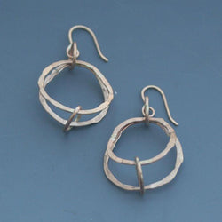 Silver Grid Small Earrings