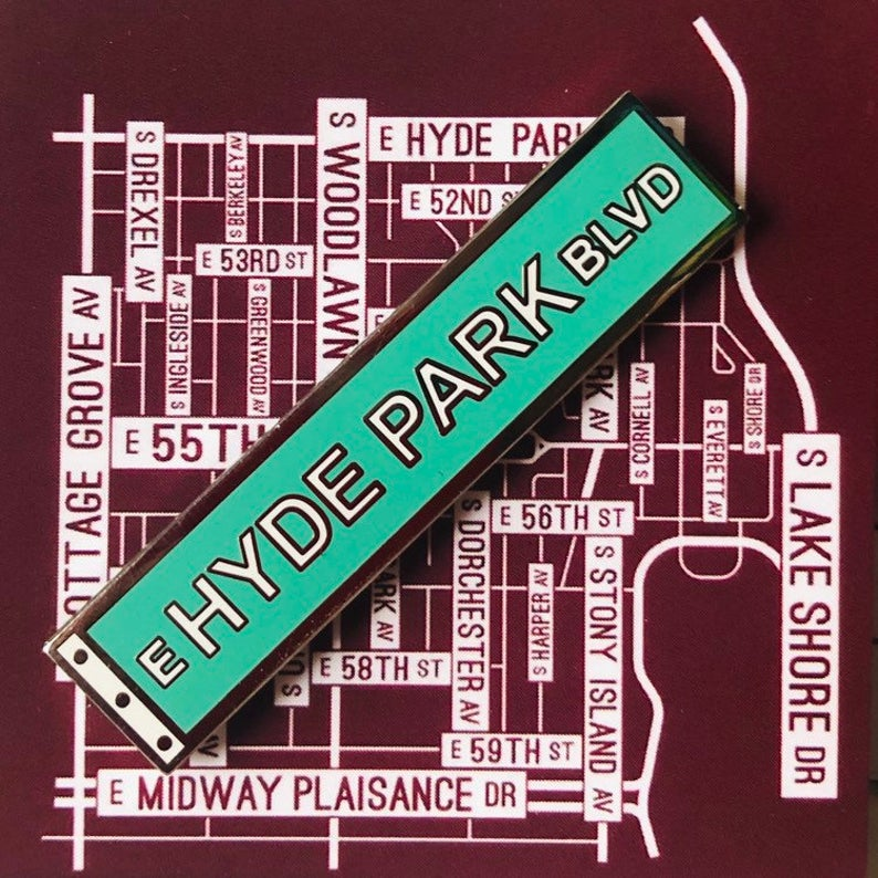 Hyde Park Blvd. - Enamel Pin by Reformed School