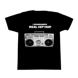 I Remember Real Hip Hop T-Shirt - Black