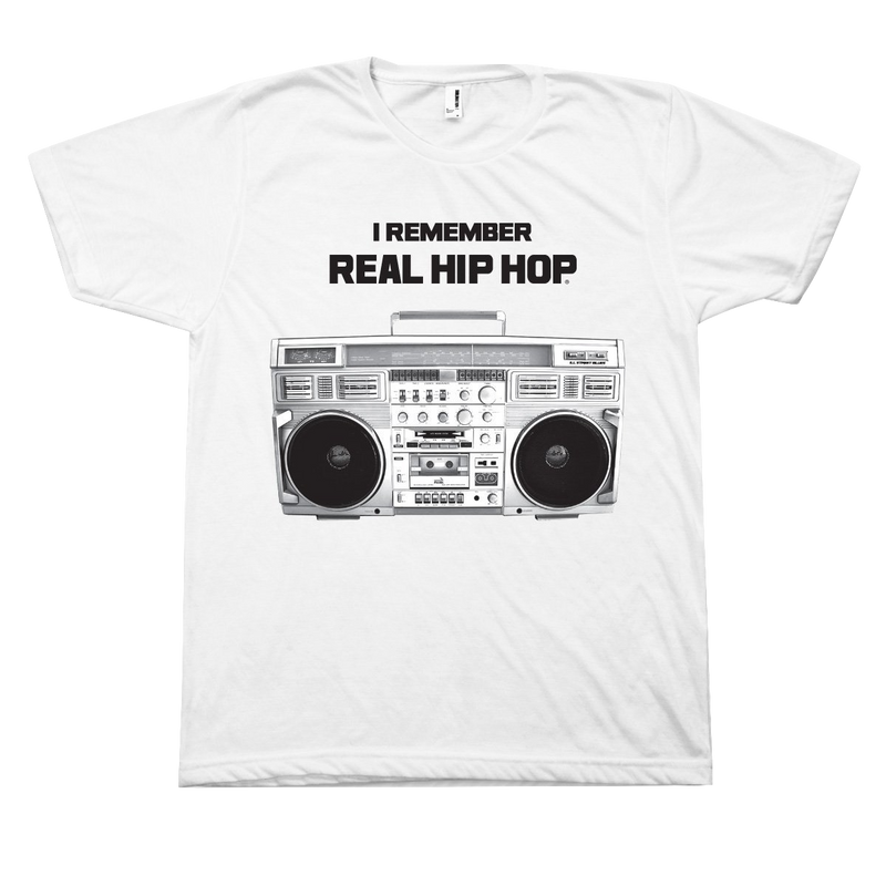 I Remember Real Hip Hop T-Shirt - White