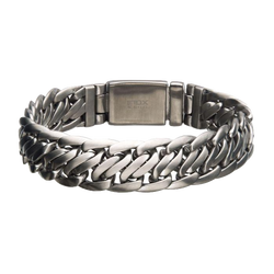Matte Stainless Steel Double Helix Chain Bracelet