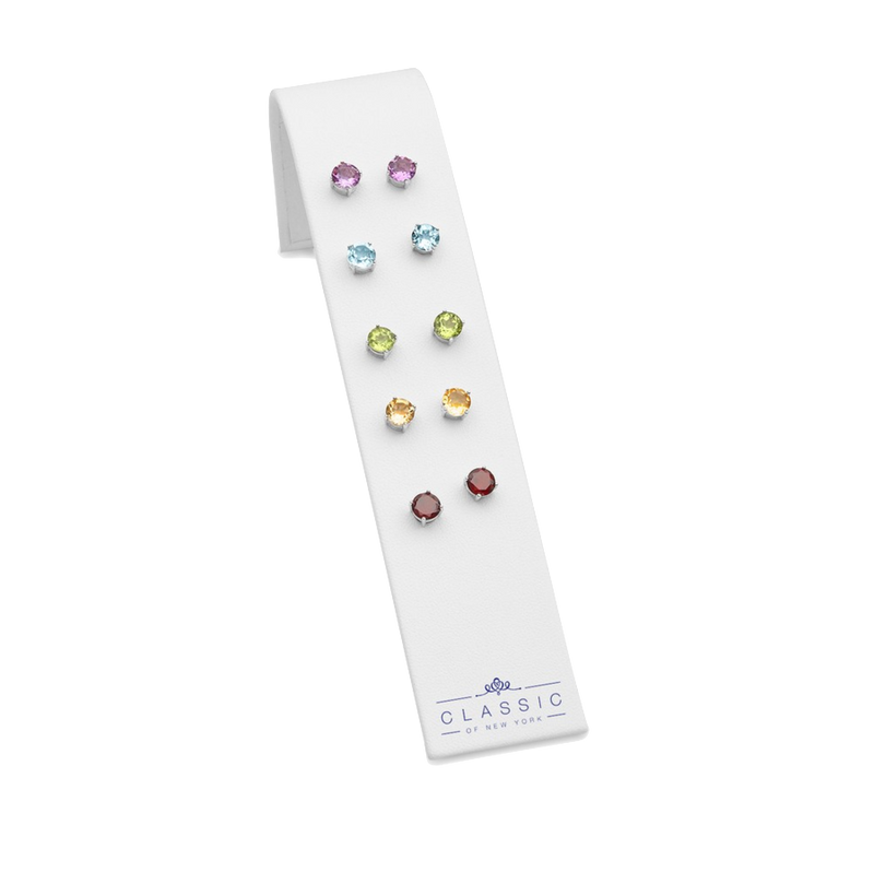 Round 6mm Gemstone Prong Studs