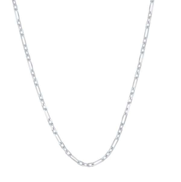 Sterling Silver 2mm 3+1 Anchor Chain - Rhodium Plated