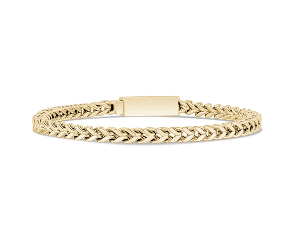 4mm Gold Steel Franco Link Bracelet