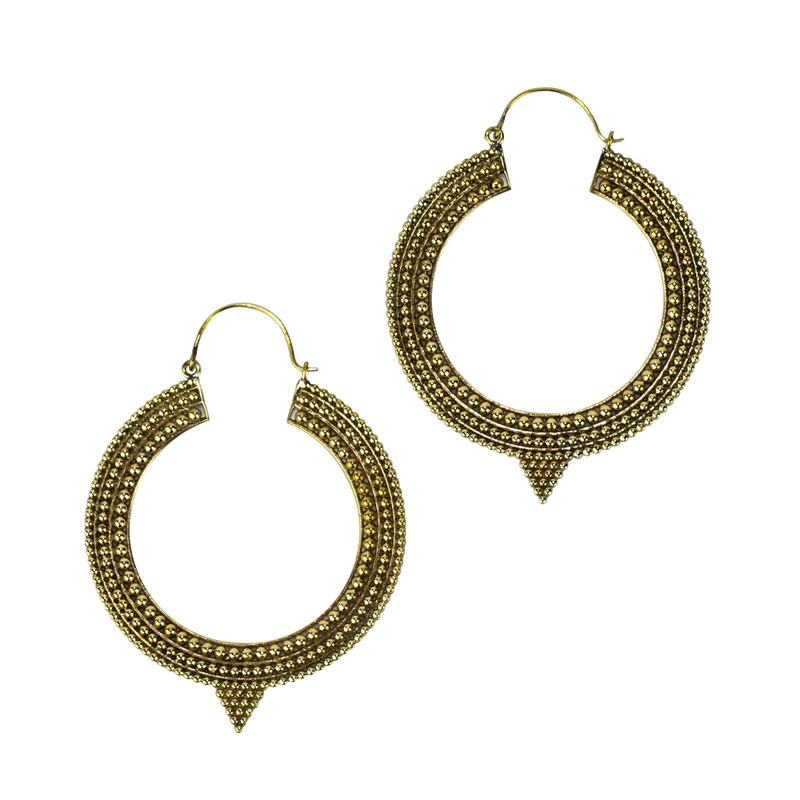 Tribal Pointed Hoop Baizaar Earrings - BE009 Large