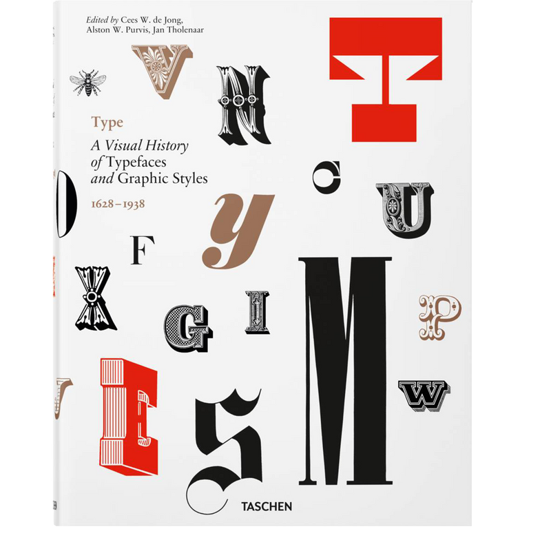 Type. A Visual History of Typefaces & Graphic Styles (Multilingual Edition) (Hardcover)