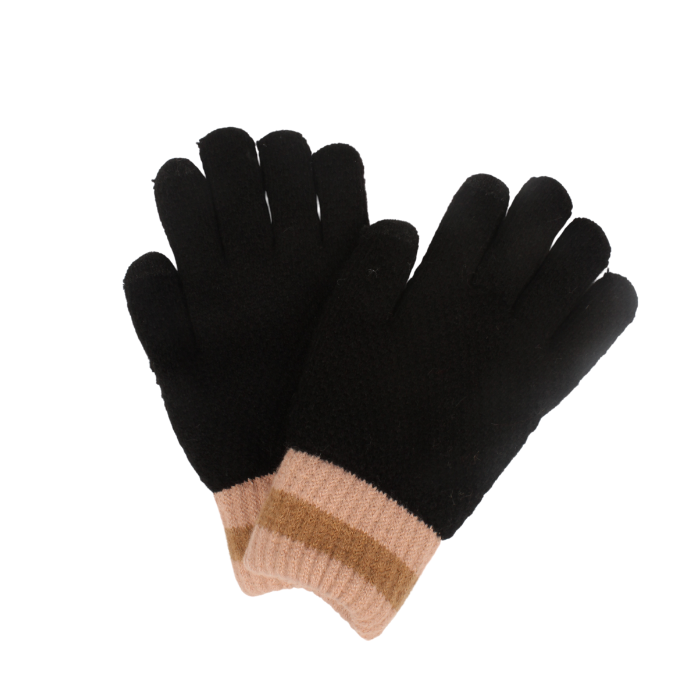 D&Y Colorblock Cuff Cozy Glove