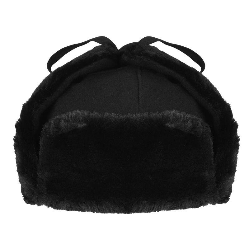 Wool Ushanka Black
