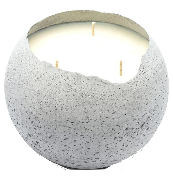 XL Orbis 3-Wick Concrete Candle - Natural
