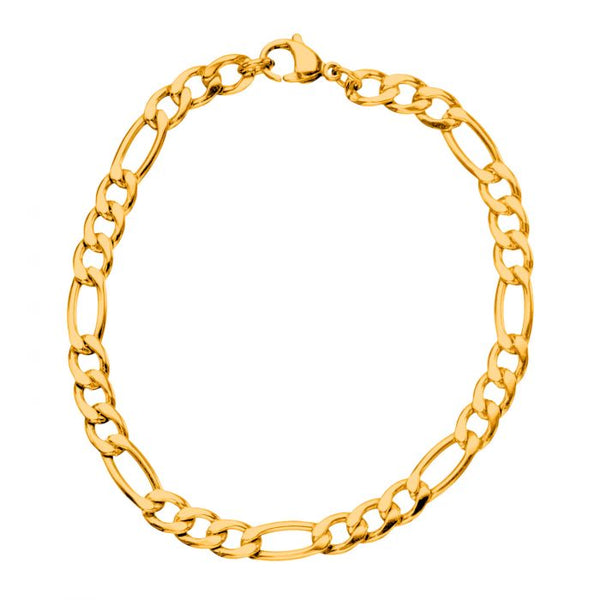 Gold Plated Figaro Chain Bracelet