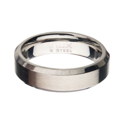 Matte Stainless Steel Beveled Band