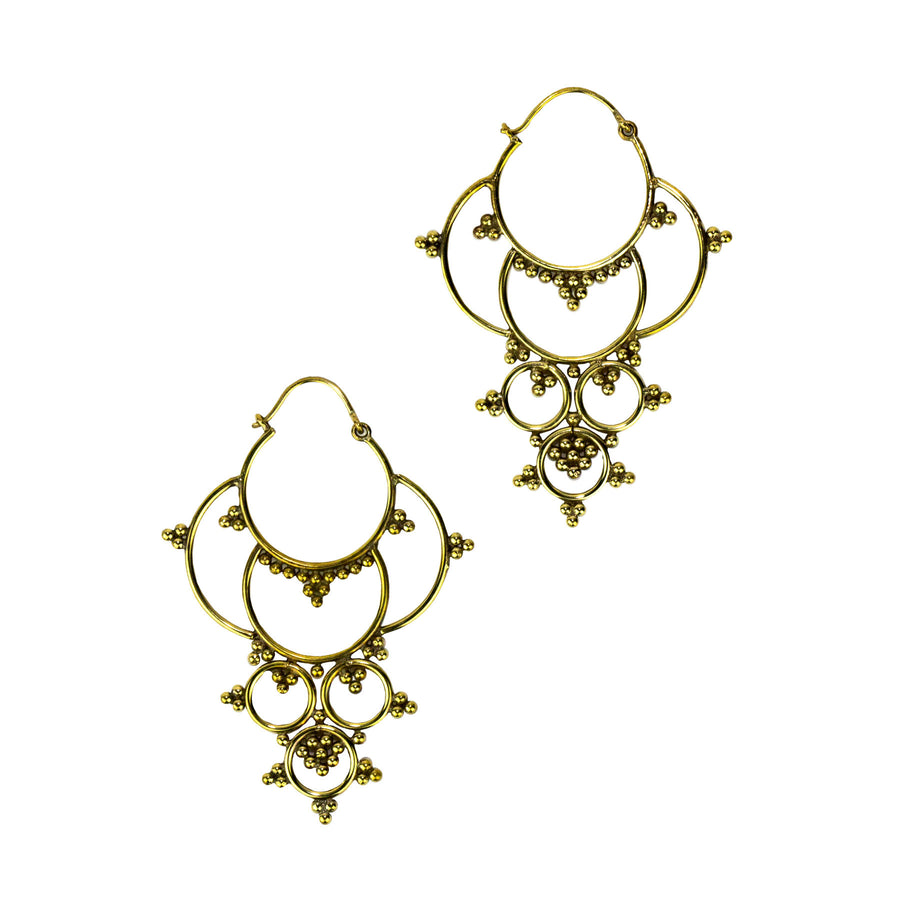 Triple Drop Hoop Baizaar Earrings