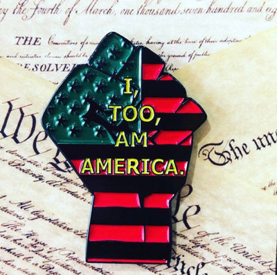 I, TOO, AM AMERICA Lapel Pin